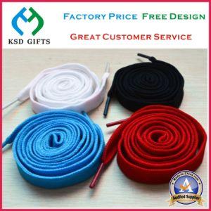 Fashion Women Polyester Flat Cotton/Elastic Shoelace pictures & photos