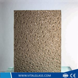 3-6mm Bronze Diamon Pattern Glass with CE&ISO9001 pictures & photos