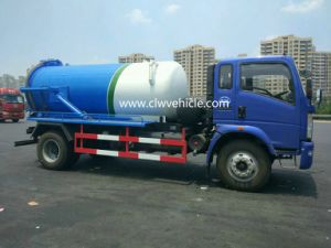 Foton 6 Wheels Sewage Suction Truck with Vacuum Pump pictures & photos
