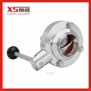 Stainless Steel Hygienic Manual Weld Weld Butterfly Valves pictures & photos