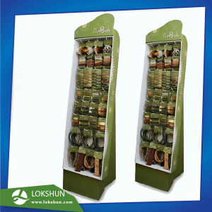 Hair Band Cardboard Floor Display with Hooks Ship Pre-Assembled Pop Retail Cardboard Display Rack for Personal Products pictures & photos