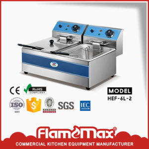 1-Tank 2-Basket Electric Fryer (HEF-26) pictures & photos