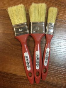 Plastic Handle Paint Brush with White Bristle Material pictures & photos
