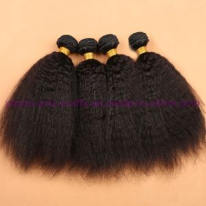 Top Quality Malaysian Virgin Human Hair Bundles Virgin Hair Weaving Products Virgin Kinky Straight Hair Extensions pictures & photos