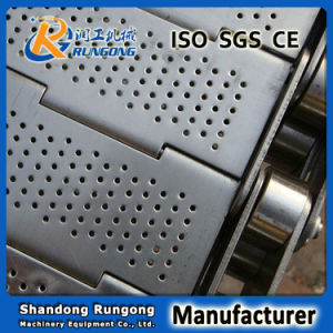 Plate Link / Hinged Slats Conveyor Belt with Side Plates or Cross Flights pictures & photos