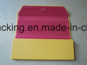 Yellow Triangle Folding Handcrafted Eyeglasses Case Factory Direct (KS1) pictures & photos