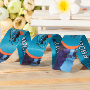 Custom Brand Name Printed Ribbon with Sublimation Logo