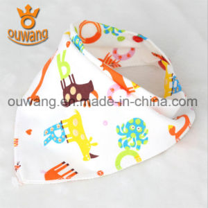 Hot Sell Promotion Soft Kids Baby Bib Simple Design Popular Cotton Bandana Drool Bibs pictures & photos