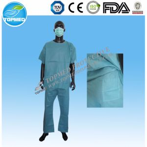 Hospital Use Non Woven Scrub Suit pictures & photos