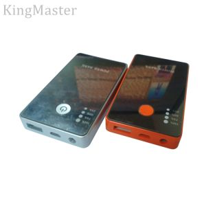 Kingmaster 5200mAh Sparkle Metal Power Bank for Mobile with Cable pictures & photos