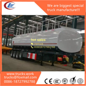 42, 000 Aluminum Oil Tank Semi Trailer with 4inch Manhole Cover pictures & photos