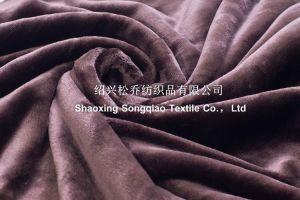 2017 Super-Soft Velour with Shu Velveteen Blanket / Sherpa Fleece Throw-Dark Brown pictures & photos