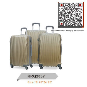 3piece ABS Plastic Travel Trolley Hard Suit Cases (KRQ2037) pictures & photos
