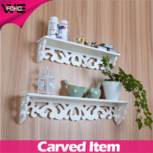 Decorative Cheap New Design White Plastic Wall Storage Shelves pictures & photos