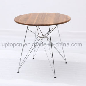 Restaurant Table with Chrome Steel and Wooden Top (SP-RT570) pictures & photos