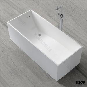 Luxury White Corian Freestanding Soaking Bathtub pictures & photos