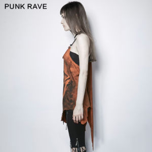 PT-112 Punk Rave Punk Style Colorful Irregular Demon Bone Print Vest pictures & photos