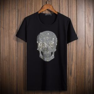 Customize High Quality 100% Cotton Sequin/ Hot Drilling Man′s T Shirt of Round Neck pictures & photos
