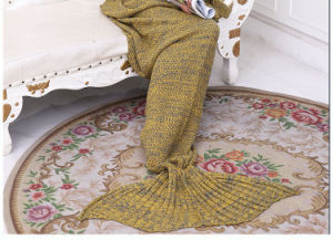 Mermaid Tail Blanket Crochet and Mermaid Blanket for Girl pictures & photos
