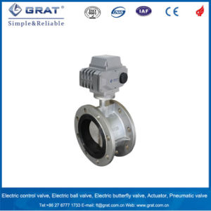 Dn150 Stainless Steel Double Flanges Electricity Motorized Butterfly Valve pictures & photos