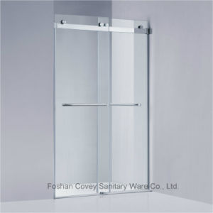 Frameless Sliding Shower Enclosure with Stainless Steel Hardware for American Market (KW021) pictures & photos