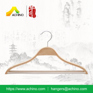 Wooden Laminated Hangers with Non Slip Bar for Women pictures & photos