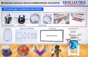 Large Embroidery Area Cap Embroidery Machine/1 Head 15 Colors T-Shirt Embroidery Machine pictures & photos