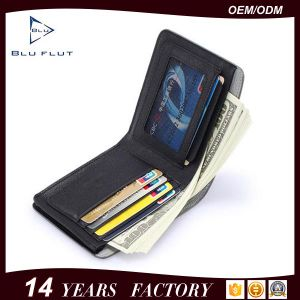 Fashion New Design Men′s Genuine Cowhide Leather Card Holder Wallet pictures & photos