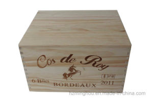 6-Bottle Pine Wooden Storage Wine Packaging Gift Box pictures & photos