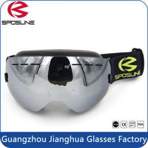 Triple Layer Face Foam Anti-Fog Anti-Scratch Black Chrome Lens Skateboarding Skiing Goggles pictures & photos
