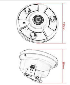 180 Degree View Angle 1.3MP/2.0MP HD Ahd CCTV Camera (AHD/TVI/CVI/CVBS switch) pictures & photos
