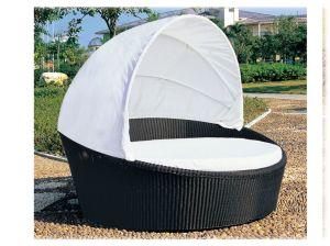 PE Rattan Outdoor Patio Garden Sofa Bed Outdoor Bed