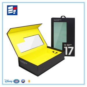 Customized Logo Cardboard Paper Gift Packaging Box with Window pictures & photos