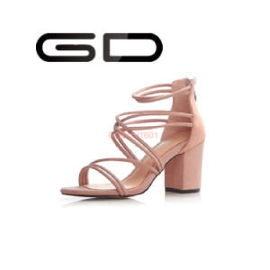 Summer Roman Style Shoes Woman High Heel Chunky Heel Sandals pictures & photos