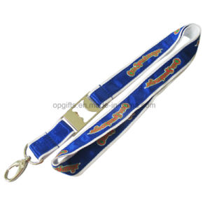 Customized Advertising Polyester Bottle Opener Lanyard for Promotion pictures & photos