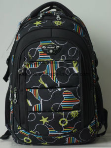"Young Design Multi-Functional 19"" Big Polyester Notebook/Computer/Hiking Backpack Bag, Full Printing Pattern Practical Outdoor Laptop Backpack pictures & photos"