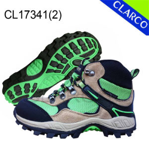 TPR Sole Leather Women Sports Outdoor Hiking Shoes pictures & photos
