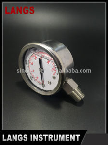 036 50mm Auto Parts Stainless Steel Crimped Bezel Liquid Filled Pressure Gauge pictures & photos