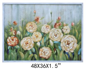 Handpainted Planked Wood Flower Decorative Art (Item#811701103) pictures & photos