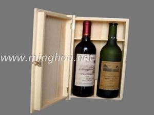 Customized Wooden Box/Double Wooden Wine Box/Storage Wooden Box pictures & photos