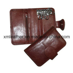Slim Compact Leather Keychain Pouch Key Holder Wallet Gifts pictures & photos