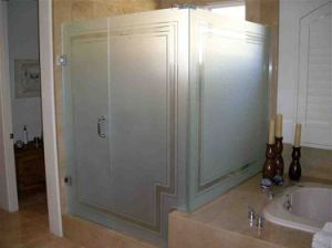 Acid Etched Frosted Tempered Glass for Bathroom Door pictures & photos