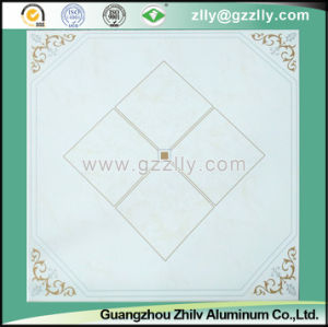 Beatiful Pattern Corrosion Resistance and Dirt Resistance Polymeric Ceiling -Gold Stone with Silver Line pictures & photos