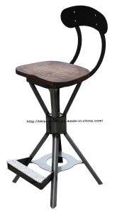 Industrial Metal Wooden Furniture Restaurant Vintage Bar Chairs pictures & photos