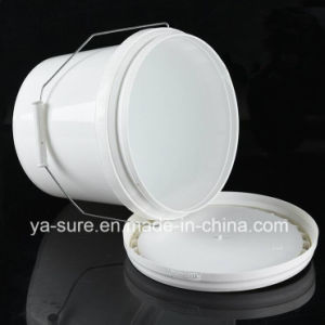 4L Round Plastic Packaging Bucket with Metal Handle pictures & photos