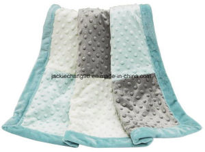 Sofitex Plush DOT Patch Design Baby Blanket pictures & photos