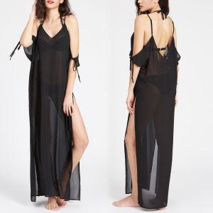Fashion Women Sexy Slim V-Neck Bandage Backless Slip Dress pictures & photos
