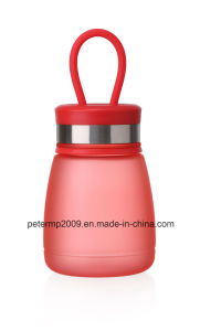 290ml Custom Plastic Bottle Fashion Sports Water Bottle, Green Color Water Bottle (hn-1610) pictures & photos