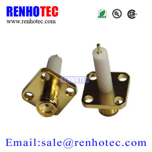 4 Hole Flange SMA Female 12.7mm PTFE Solder Panel Mount pictures & photos