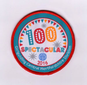 100 Design Red Overlocking Clothing Woven Badge pictures & photos